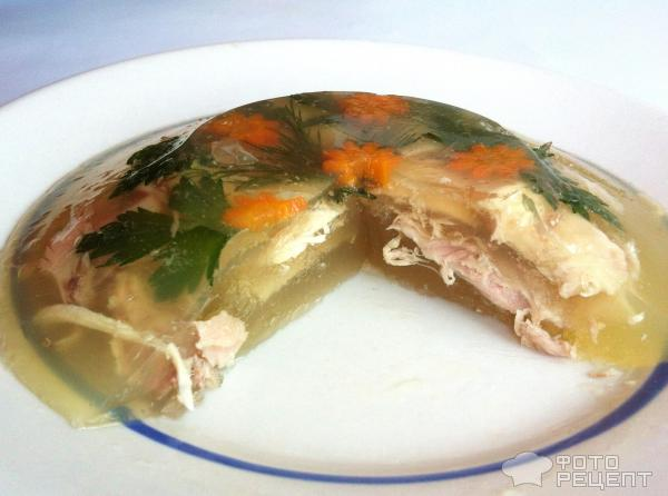 Рецепт холодца из курицы с желатином