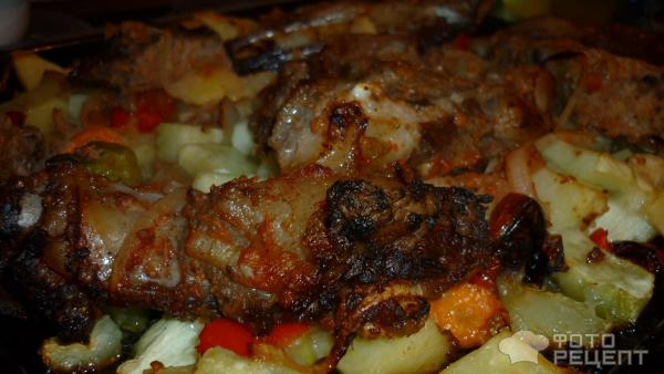А потом я добавила ребрышки к овощной смеси, которую до этого готовила с мясом и без.