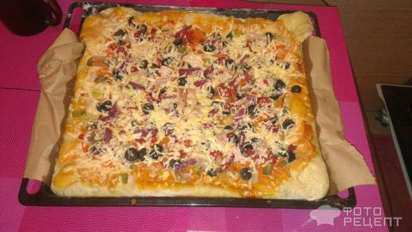 Пицца рецепт на готовом дрожжевом тесте рецепт