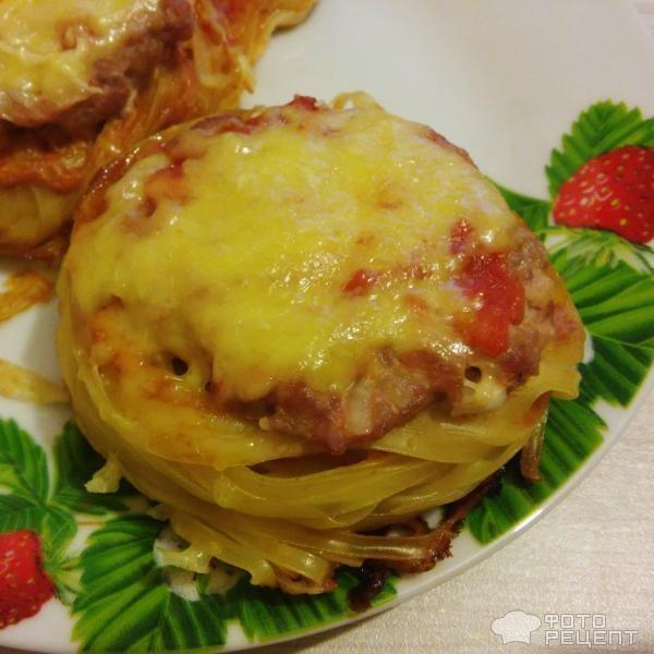 Гнезда с фаршем рецепт в духовке без сыра