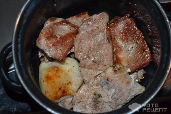 Мясо на сковороде рецепт пошагово свинина