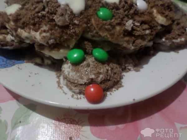 Торт черепаха с бананом пошаговый рецепт с