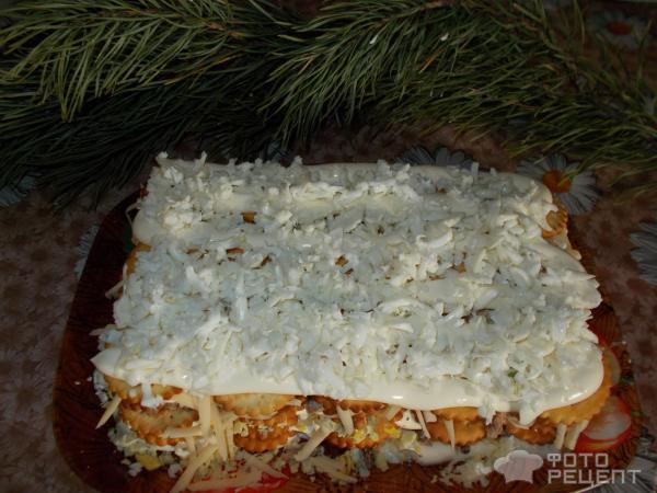 Торт с крекером и консервой рецепт 13