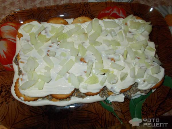 Торт с крекером и консервой рецепт 115