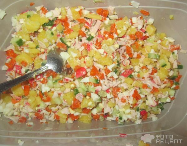 Салат с крабовыми чипсами рецепты