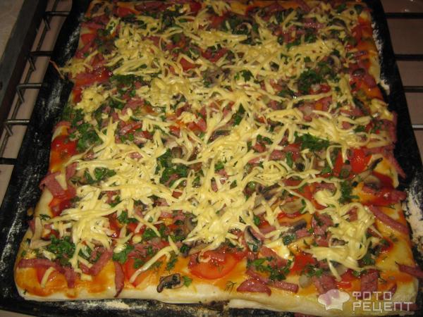 Пицца из готового слоеного бездрожжевого теста