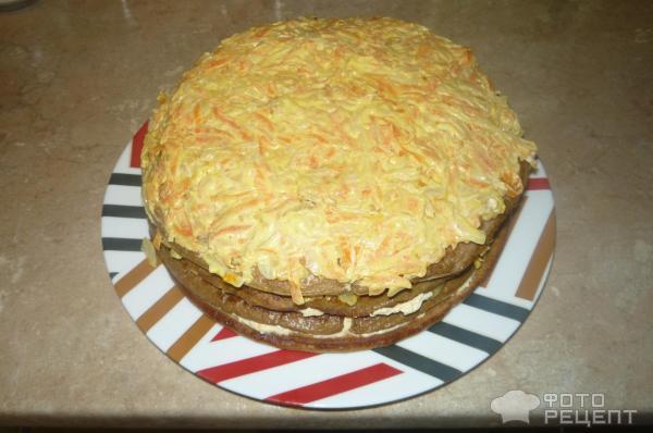 Торт из куриной печени простой рецепт