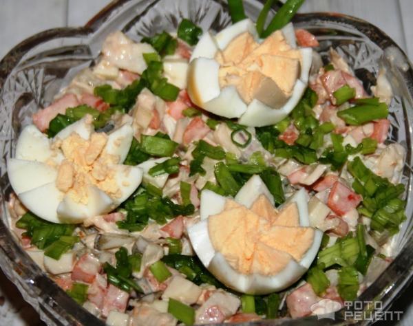 Салат из рыбной консервы с яйцом и рисом рецепт с