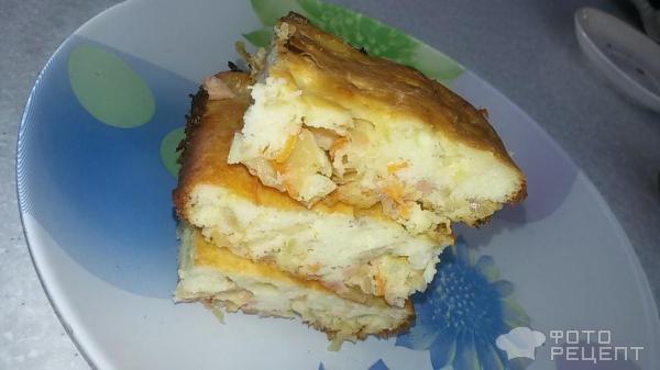 Пирог наливной с капустой рецепт с