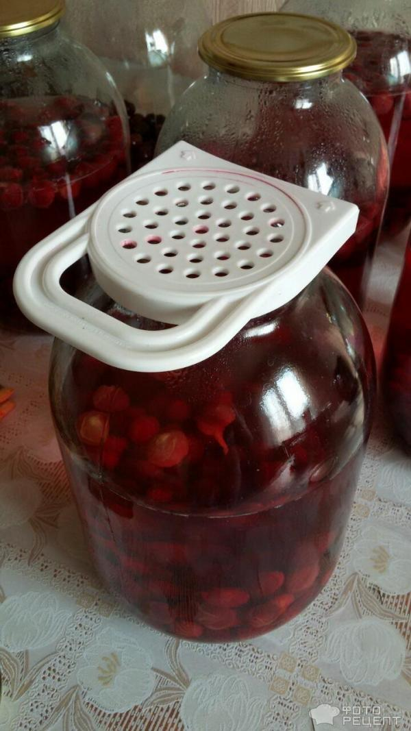 Рецепт вишневого компота в домашних условиях 651