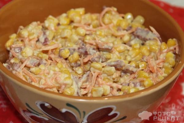 Рецепты салатов простые с корейской морковкой