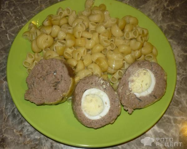 Мясной рулет с яйцом в фольге рецепт