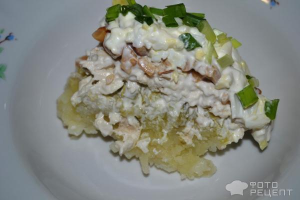 Рецепты салатов с курицей и опятами с фото