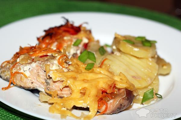Рецепт кета с овощами в духовке с пошагово