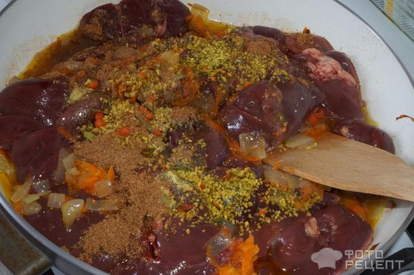 Куриная печень тушеная с овощами рецепт
