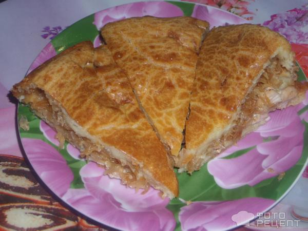 Пирог с капустой и курицей в духовке рецепт пошагово 5