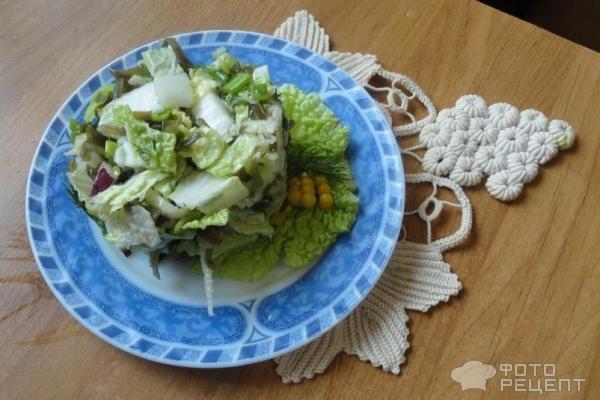 Салат с пекинской капустой и морским коктейлем рецепт с очень вкусный