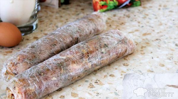 Домашняя куриная колбаса фото