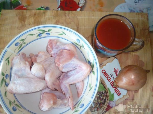 Курица в томатном соке в духовке