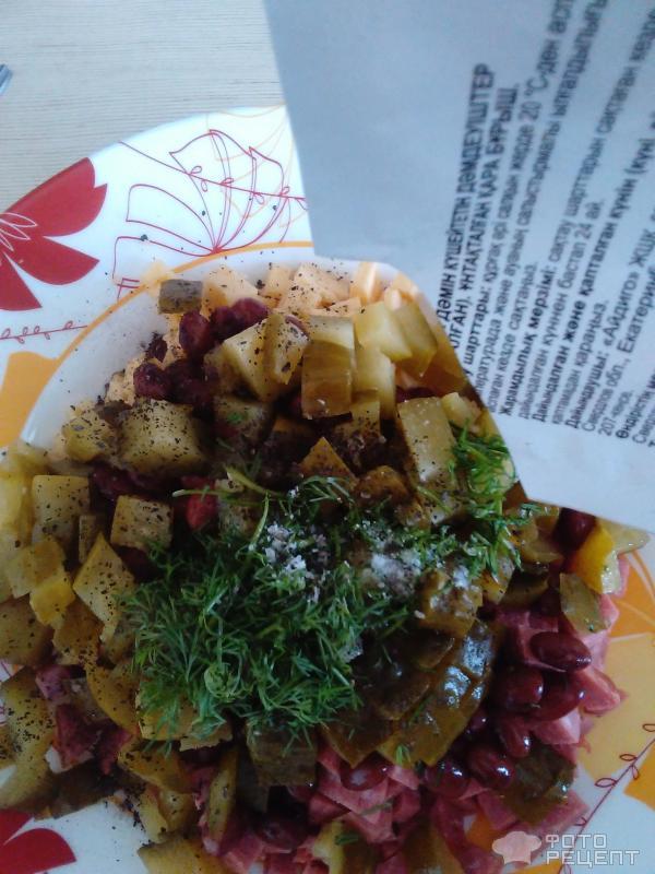 рецепт салатов из копченой колбасы и пекинской капусты