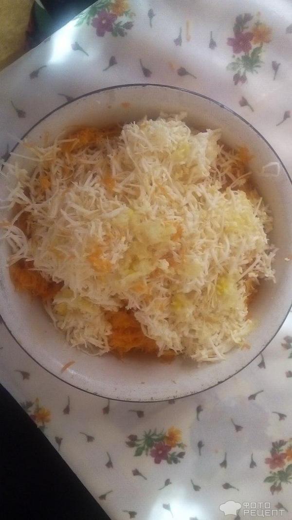 Салат из моркови с чесноком фото