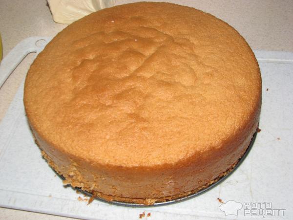 Пошаговый рецепт бисквитного пирога с