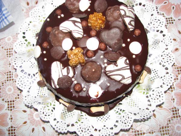 Как сделать подтеки на торте из шоколада видео