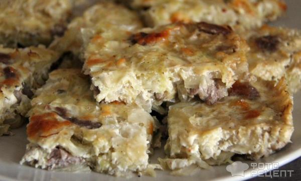 Запеканка с капустой и мясом в духовке рецепт 60