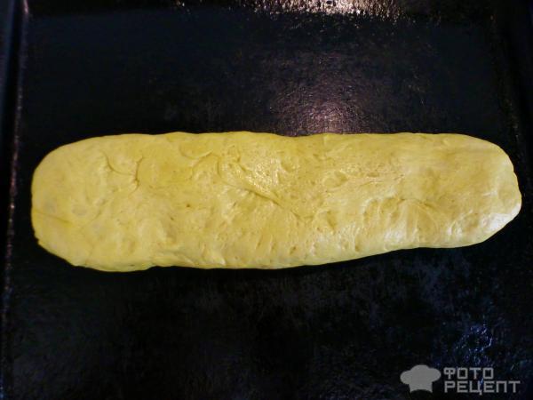 переворачиваем пирог швом вниз