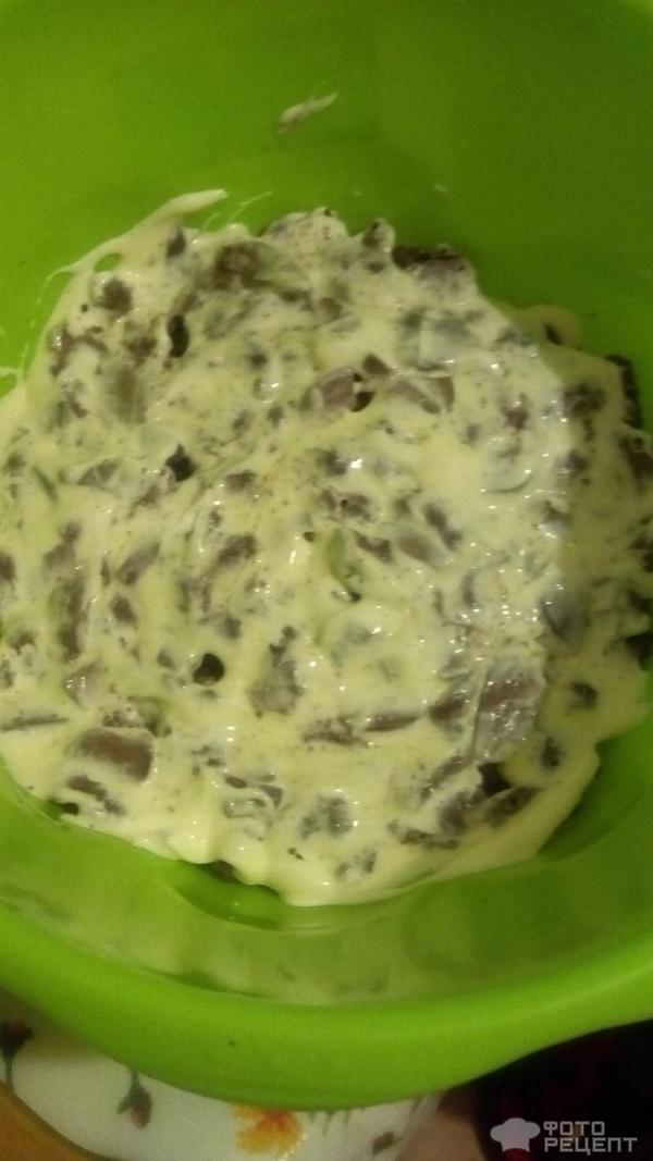 Рецепт салата фасоль печень огурец