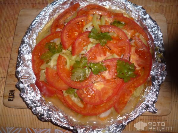 Окорочка с помидорами в духовке