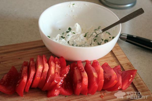 Баклажаны с сыром и помидорами фото