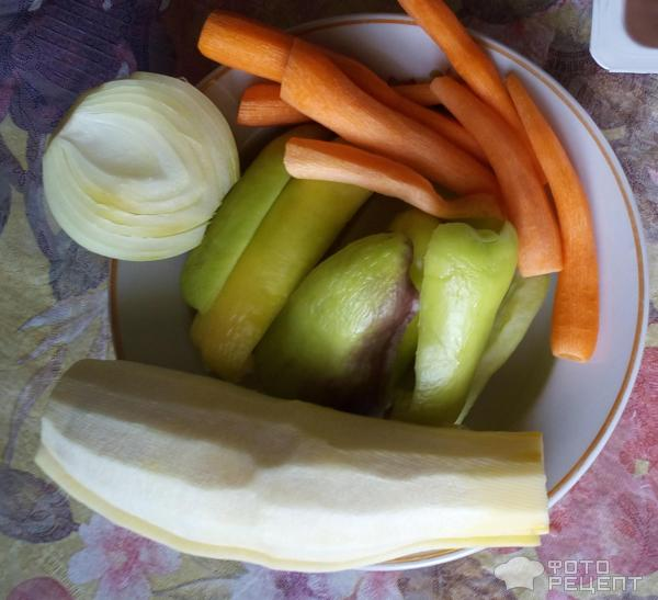 Щука жареная с овощами