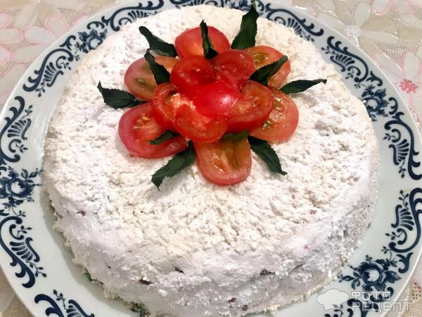 Творожно-кабачковый торт фото