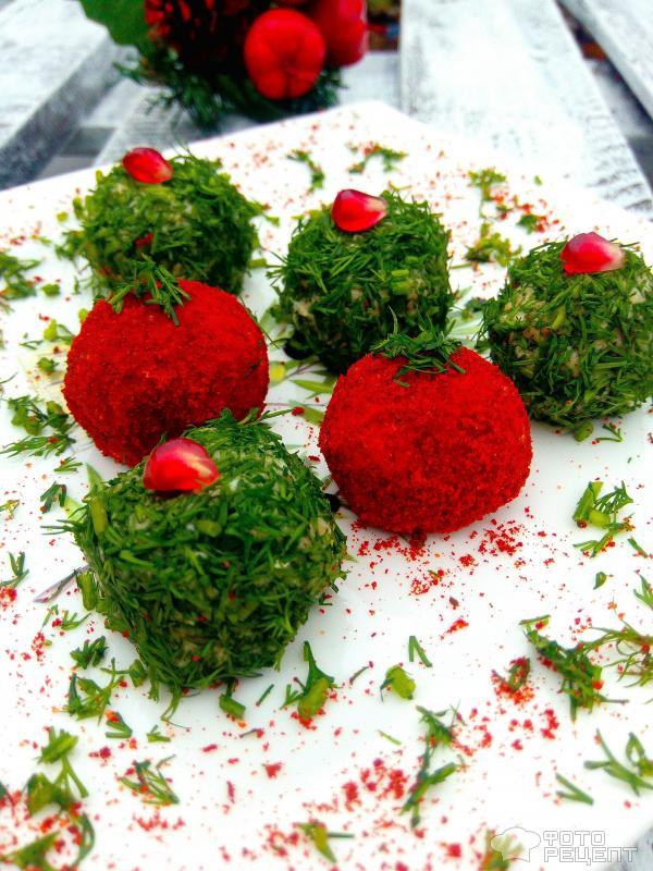 Закуска Новогодние шары фото