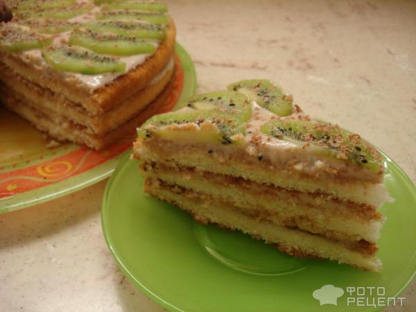 Торт из коржей готовых рецепт со сгущенкой и фруктами разные