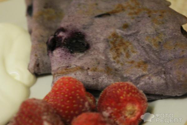 Блины из черной смородины фото