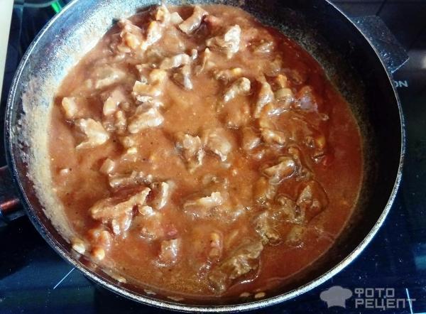 Гуляш из говядины с солеными огурцами рецепт