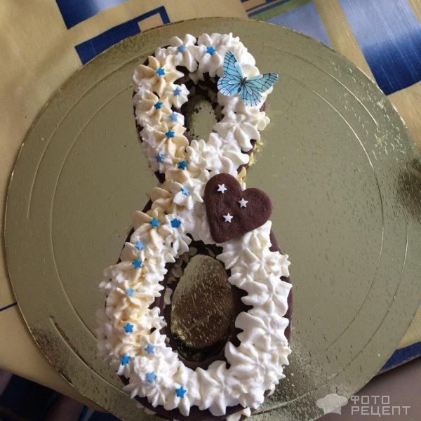 Торт-цифра фото
