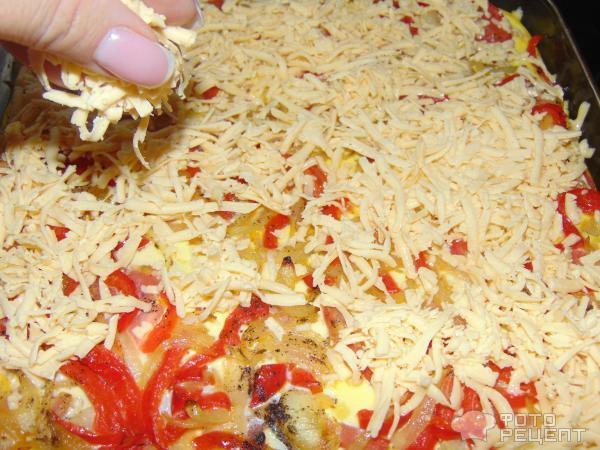 Цветная капуста с овощами, запеченая в форме фото
