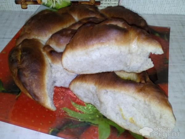 Пирог открытый, отрывной, с начинкой из капусты фото