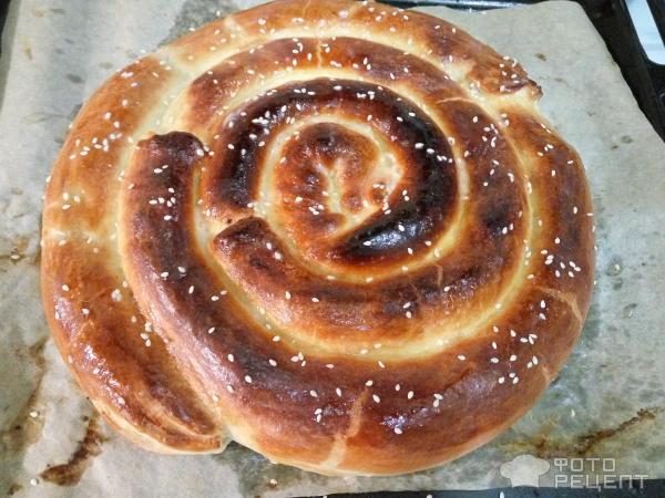 Слоеный пирог Улитка фото