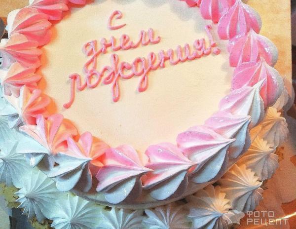 Бисквитный торт для Мамы фото
