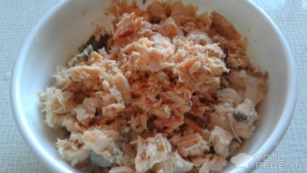 Макароны с рыбными консервами фото