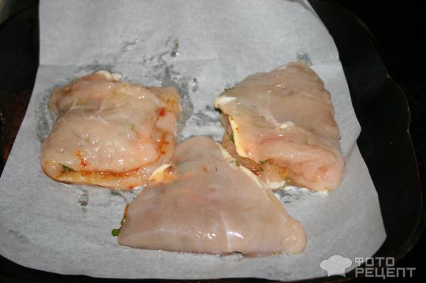 Конвертики из куриного филе