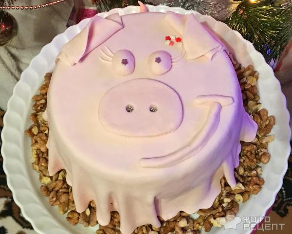 Торт на Новый год 2019 Поросенок фото