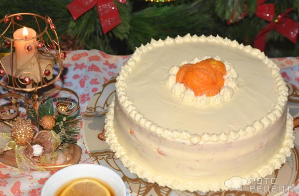 Торт Мандариновый на Рождество фото