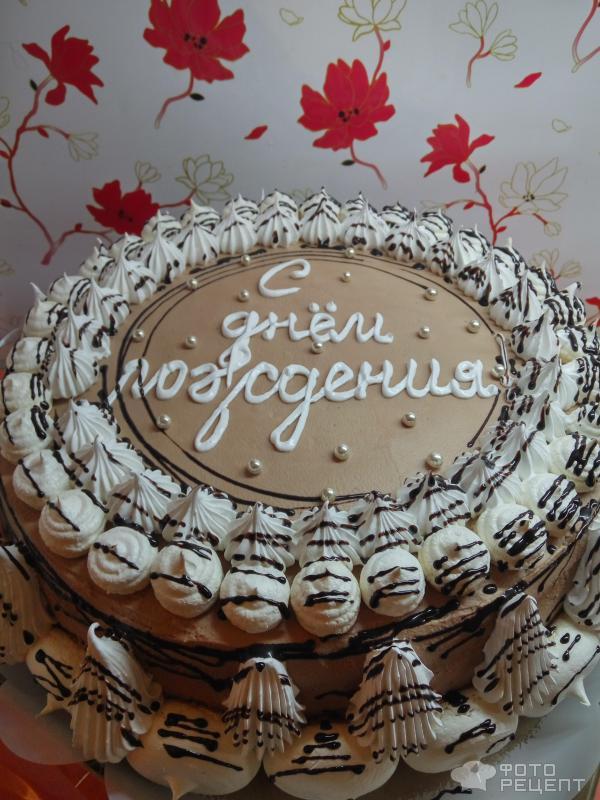 Торт бисквитный Белое и черное фото