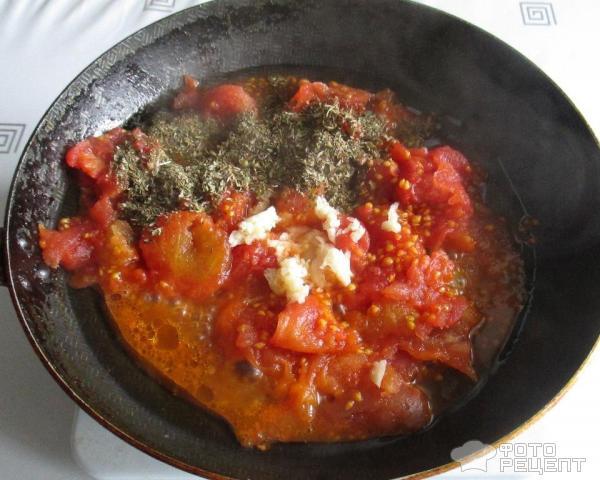 Пицца с маринованными томатами фото
