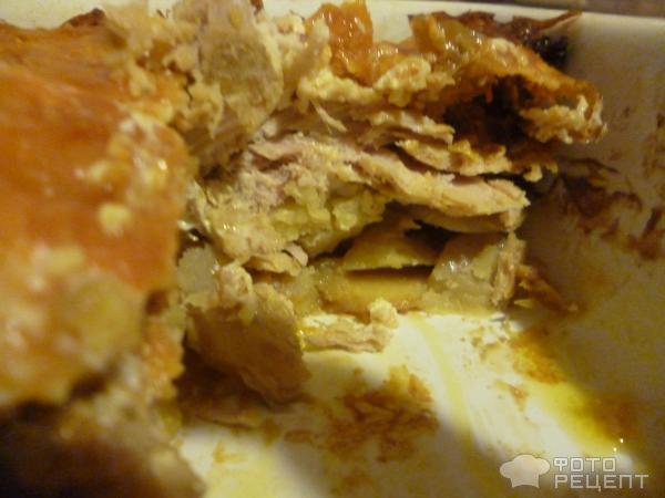 Запеканка мясная с картофелем фото
